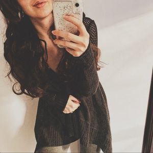 Roxy Sweaters - Roxy 🍂☕️ Beach Mesh Black Hooded Cardigan sz XS